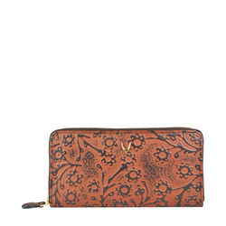 ATLANTA-FLOWER EMBOSSED-BROWN,  brown