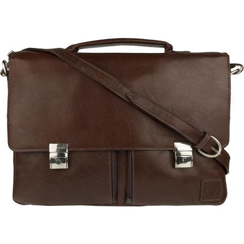 Slider 02 Briefcase,  brown, khyber