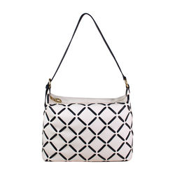Kochab 01 Handbag, cow deer,  white
