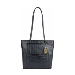 TOVAH 4310 WOMENS HANDBAG CROCO,  black