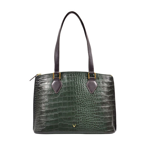 Scorpio 02 Sb Women s Handbag, Croco Melbourne Ranch,  green