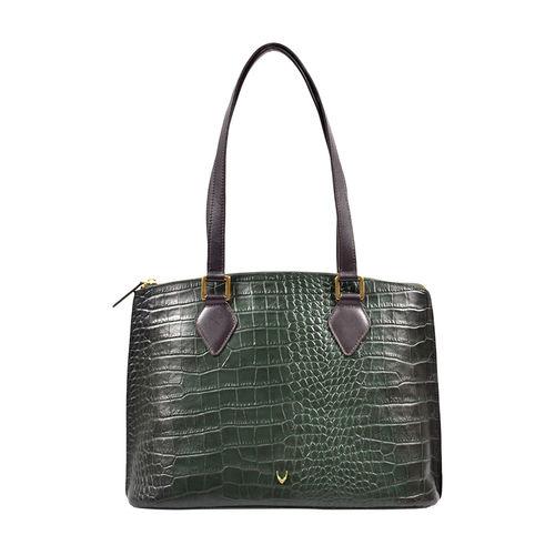 Scorpio 02 Sb Women s Handbag Croco,  emerald green