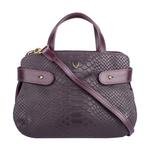 Brigitte 02 Women s Handbag, Snake Melbourne Ranch,  aubergine