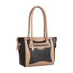 BOSS 01 WOMEN S SHOULDER BAG WAXED SPLIT,  black