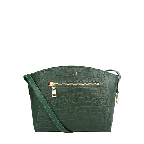 Bonnie 02 Women s Handbag, Croco Melbourne Ranch,  emerald green