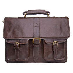 Castello Briefcase, ranchero,  brown