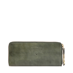 PEARL HART W1 (RF) WOMENS WALLET EI NATURAL CRUST,  emerald green