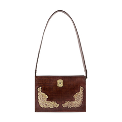 PEARL HART 02 WOMENS HANDBAG EI NATURAL CRUST,  brown