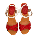 Sophia Women s Shoes, Snake Ranch, 39,  red