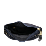 COLETTE 02 WOMENS HANDBAG SUEDE,  midnight blue