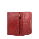 Carly W1 (Rfid) Women s Wallet, Croco Melbourne,  red