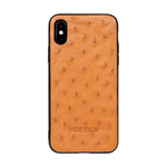 I PHONE X MOBILEPHONE CASE OSTRICH,  tan