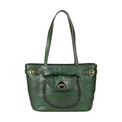 Croco 03 Handbag,  green