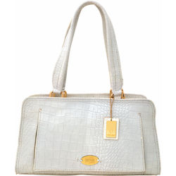 Orsay 03 Handbag, croco,  white