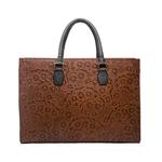 Kester Women s Handbag, Flower Embossed,  brown