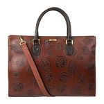 Kester Women s Handbag, Leaf Embossed,  brown