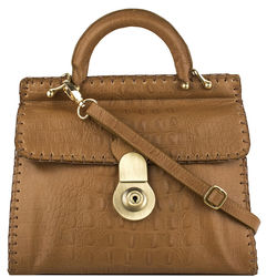 Oxfordstreet 01 Women's Handbag, Baby Croco,  tan