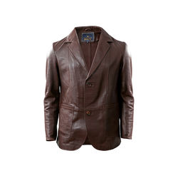 Ralph Men's Jacket Polished Lamb M,  brown, l