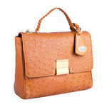 Reims Handbag,  tan, ostrich