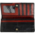 Christine W1 Women s Wallet, Roma Cement Lizard,  black