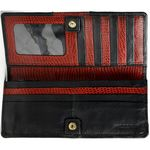 Christine W1 Womens wallet Roma Cement Lizard,  black