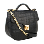 Sb Elsa Women s Handbag, Croco Melbourne Ranch,  black