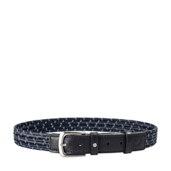 Sienna Men's Belt, Ranchero Woven 36-38,  blue