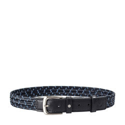 Sienna Men's Belt, Ranchero Woven 40-42,  blue