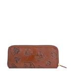 Meryl W1 Women s wallet, E. I. Leaf Emboss Roma Melbourne Ranch,  tan