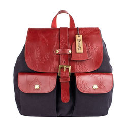 Lumiere 02 Women's Handbag, Canvas Emboss Mel Ranch Split,  navy blue