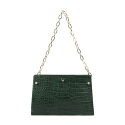 JITTERBUG 03 WOMEN'S HANDBAG CROCO,  emerald green