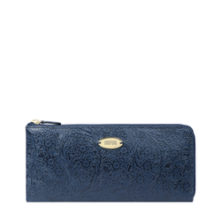 VIOLA W1 SB WOMENS WALLET FLOWER EMBOSSED,  midnight blue