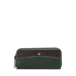 Virgo W3 (Rfid) Women's Wallet Snake,  emerald green