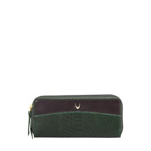 Virgo W3 (Rfid) Women s Wallet Snake,  emerald green