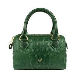 Mb Suzie Sling bag, baby croco,  emerald