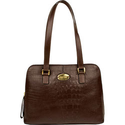 Sb Tate 03 Ge Handbag, baby croco,  brown