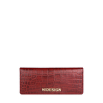 Carly W2 (Rfid) Women s Wallet, Croco Melbourne,  red