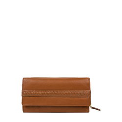 Mina W3 Women's wallet, Roma Melbourne Ranch,  tan