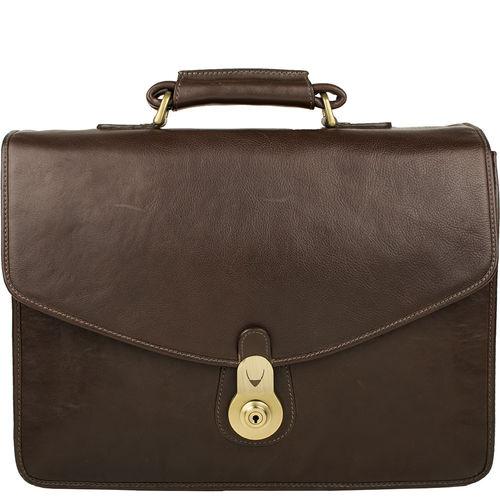 GI First[ N] Briefcase, Ranchero Maori,  brown
