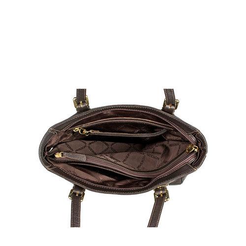Lucia 01 Handbag, cow deer,  brown