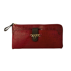 Atria W2(Rfid) Women's Wallet Croco,  red