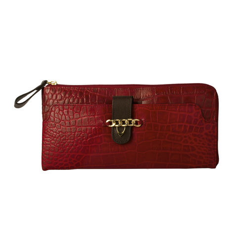 Atria W2(Rfid) Women s Wallet Croco,  red