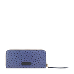 Maple W2 Sb (Rfid) Women s Wallet Ostrich Embossed Melbourne Ranch,  midnight blue