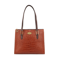 EE MOROCCO 06 WOMENS HANDBAG CROCO,  tan