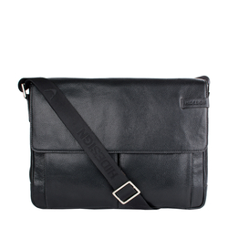 TRAVOLTA 01 MESSENGER BAG NEW SIBERIA,  black