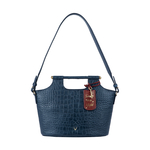 BLACK MAGIC 01 WOMENS HANDBAG CROCO,  midnight blue