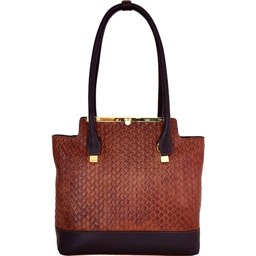 Shinjuku 01 Women s Handbag, Woven Ranch,  brown