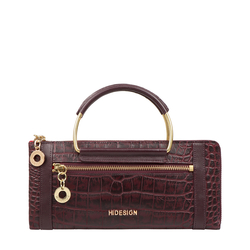 AFFAIR W2 RF WOMENS WALLET CROCO,  aubergine