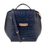 Hidesign X Kalki Alive 03 Women s Shoulder bag, Croco Melbourne Ranch,  midnight blue