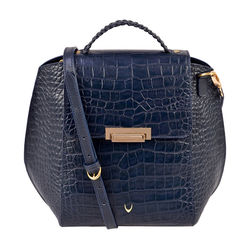 Hidesign X Kalki Alive 03 Women's Shoulder bag, Croco Melbourne Ranch,  midnight blue